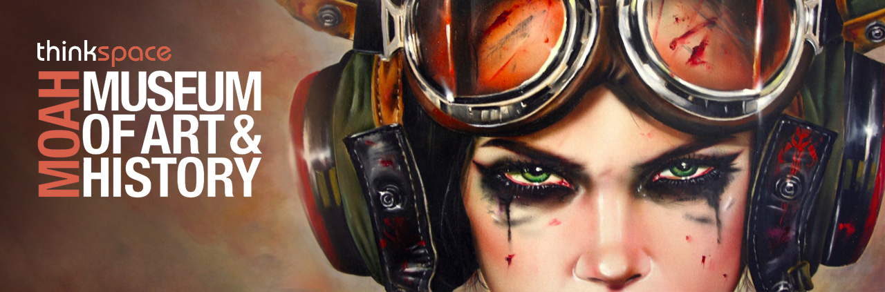BRIAN M. VIVEROS COMING TO (MOAH) THE LANCASTER MUSEUM OF ART & HISTORY WITH HIS NEW PAINTING 'BOUNTY-HUNT-HER' FOR UPCOMING 'THE NEW VANGUARD' EXHIBITION