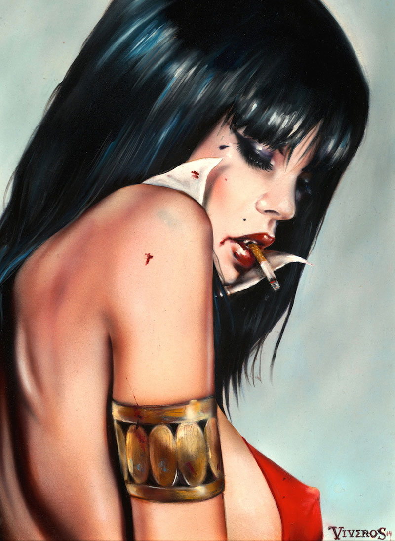 VIVA-VAMPIRELLA-10x1322-oil_acrylic-on-maple-board_Year-2014