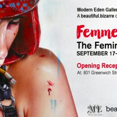 BRIAN M. VIVEROS COMING TO  MODERN EDEN GALLERY SAN FRANCISCO WITH HIS NEW PAINTING 'SHADOW BOXER' FOR UPCOMING 'FEMME TO FEMME FATALE' EXHIBITION