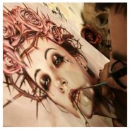 VIVEROS 'BLACKSTAR' TRIBUTE PAINTING FOR SPECIAL 'MUSIC BOX' SHOW @ HAVEN GALLERY NY