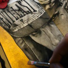 VIVEROS NEW PIECE 'REVENGE' FOR UPCOMING MOLESKINE VI EXHIBITION @ SPOKE ART SAN FRANCISCO OPENING JULY 8TH!!!
