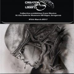 VIVEROS PART OF SPECIAL HOMAGE TO HR GIGER 'CREATOR OF LEGENDS' EXHIBITION @ GIGER MUSEUM