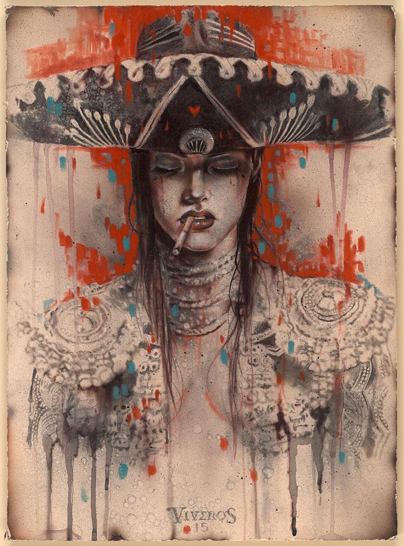 EL-MARIACHI-11-x-15-2015-charcoalpastelwatercolor-on-board