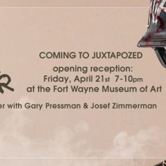 NEW BRIAN M. VIVEROS 'IT'S NEVER OVER' FOR 'JUXTAPOZED' EXHIBITION AT FORT WAYNE MUSEUM OF ART OPENING FRIDAY, APRIL 21