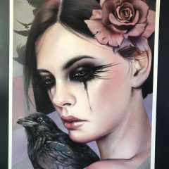 CROW 2018 RARE TEST PRINT (HAND EMBELLISHED) SOLD OUT