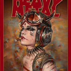 VIVEROS NEW 'METAL-HEAD' FOR SPECIAL HEAVY METAL MAGAZINE 40TH ANNIV. SHOW @ COPRO GALLERY JULY 15th