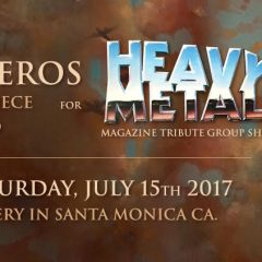 VIVEROS NEW 'METAL-HEAD' FOR HEAVY METAL MAGAZINE 40TH ANNIVERSARY ART SHOW OPENING SATURDAY, JULY 15TH @ COPRO GALLERY
